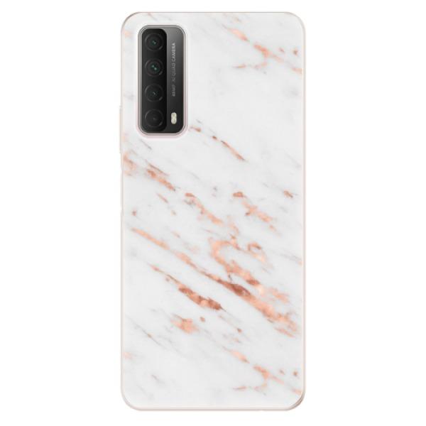 Odolné silikonové pouzdro iSaprio - Rose Gold Marble - Huawei P Smart 2021