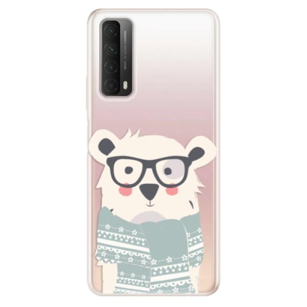 Odolné silikonové pouzdro iSaprio - Bear with Scarf - Huawei P Smart 2021