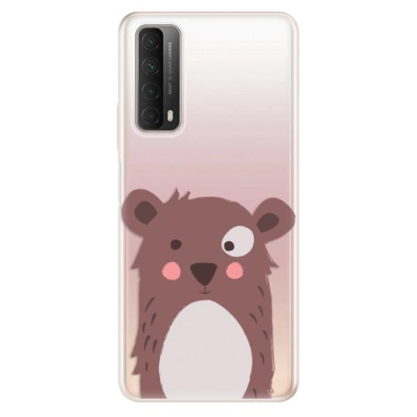 Odolné silikonové pouzdro iSaprio - Brown Bear - Huawei P Smart 2021