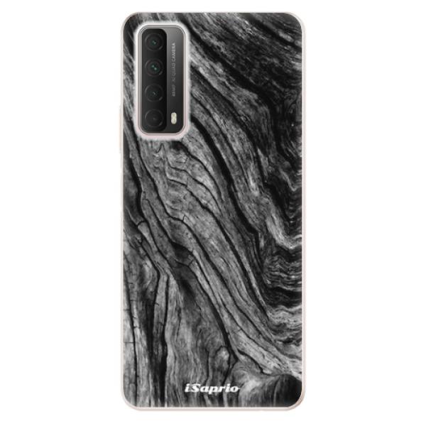 Odolné silikonové pouzdro iSaprio - Burned Wood - Huawei P Smart 2021