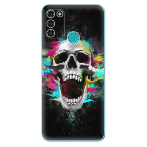 Odolné silikonové pouzdro iSaprio - Skull in Colors - Honor 9A