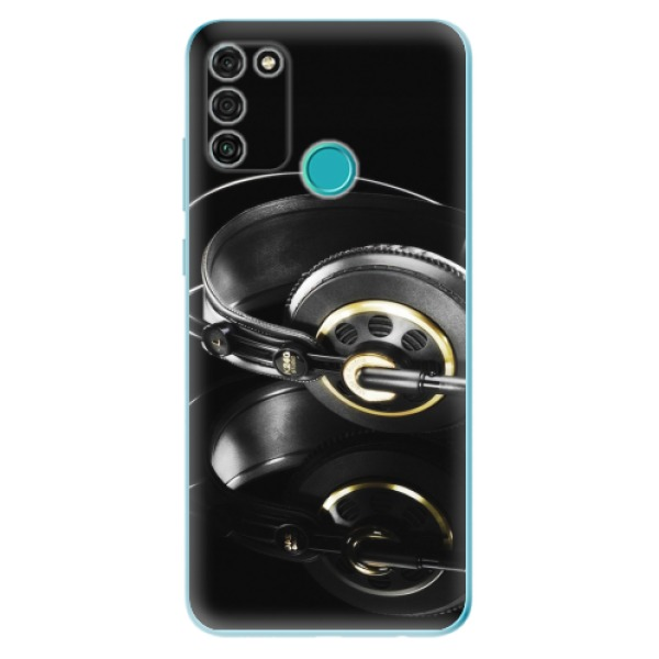 Odolné silikonové pouzdro iSaprio - Headphones 02 - Honor 9A