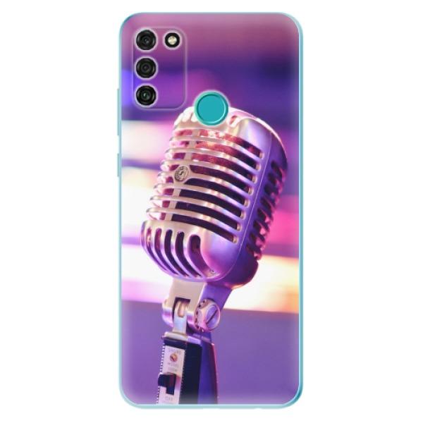 Odolné silikonové pouzdro iSaprio - Vintage Microphone - Honor 9A