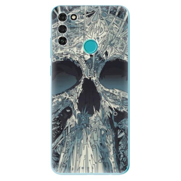 Odolné silikonové pouzdro iSaprio - Abstract Skull - Honor 9A