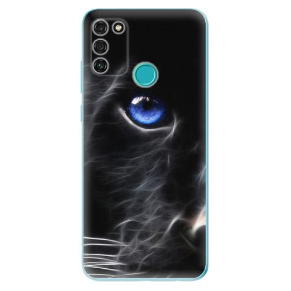 Odolné silikonové pouzdro iSaprio - Black Puma - Honor 9A
