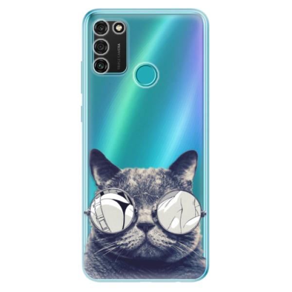 Odolné silikonové pouzdro iSaprio - Crazy Cat 01 - Honor 9A