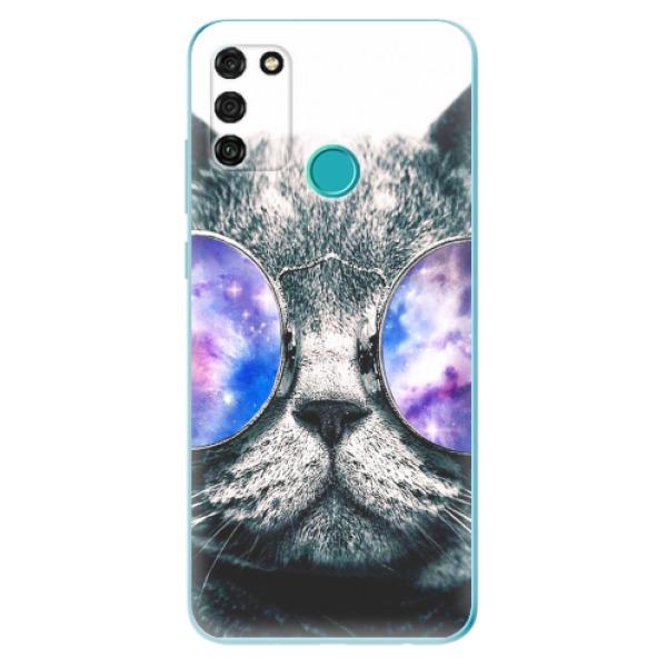 Odolné silikonové pouzdro iSaprio - Galaxy Cat - Honor 9A
