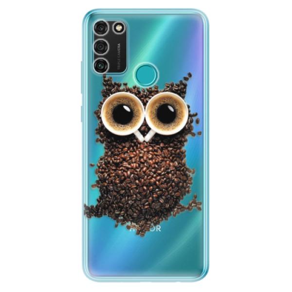Odolné silikonové pouzdro iSaprio - Owl And Coffee - Honor 9A