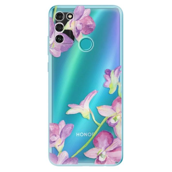Odolné silikonové pouzdro iSaprio - Purple Orchid - Honor 9A