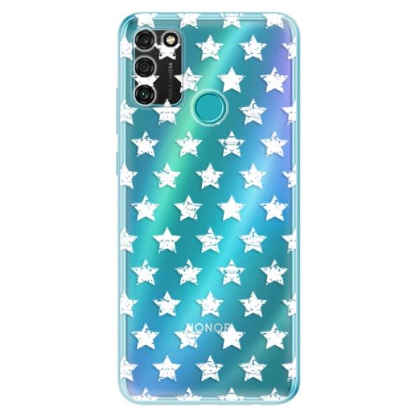 Odolné silikonové pouzdro iSaprio - Stars Pattern - white - Honor 9A