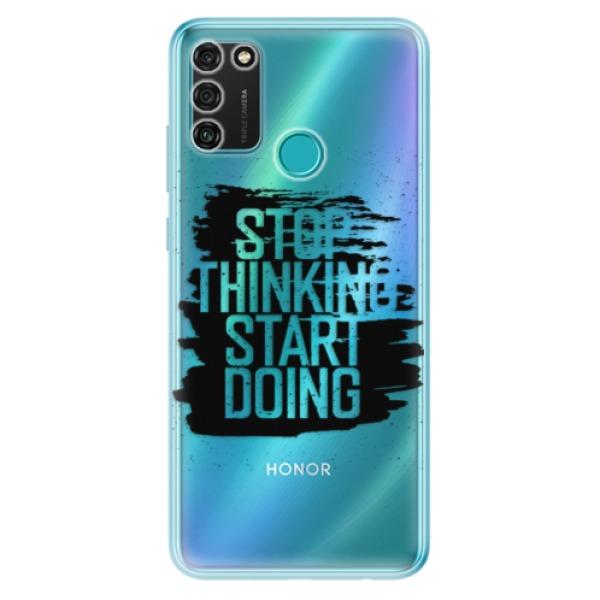 Odolné silikonové pouzdro iSaprio - Start Doing - black - Honor 9A