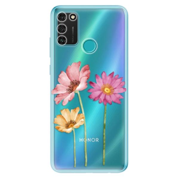 Odolné silikonové pouzdro iSaprio - Three Flowers - Honor 9A