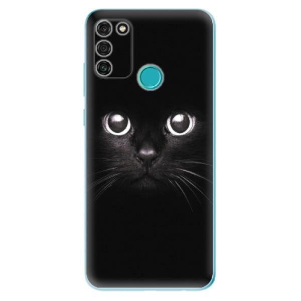 Odolné silikonové pouzdro iSaprio - Black Cat - Honor 9A