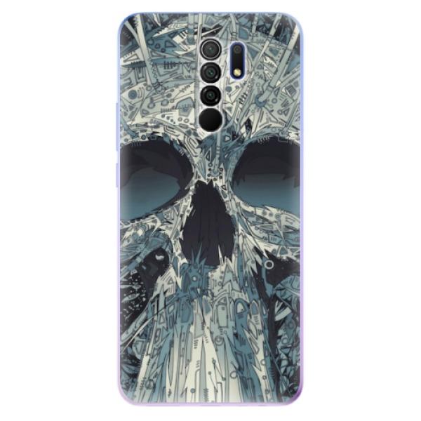Odolné silikonové pouzdro iSaprio - Abstract Skull - Xiaomi Redmi 9