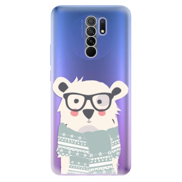 Odolné silikonové pouzdro iSaprio - Bear with Scarf - Xiaomi Redmi 9