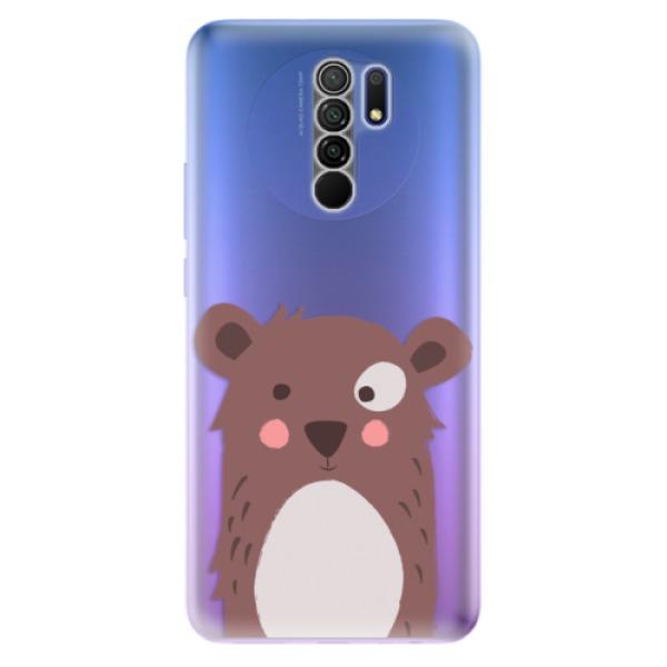 Odolné silikonové pouzdro iSaprio - Brown Bear - Xiaomi Redmi 9