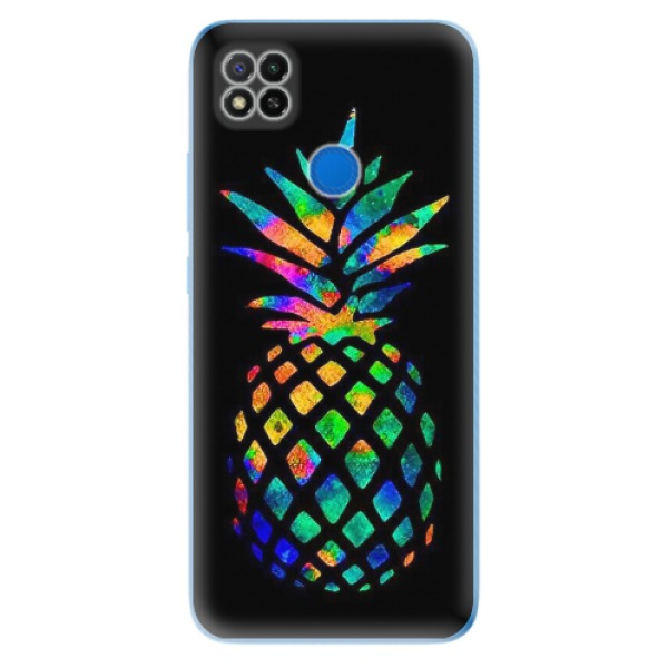 Odolné silikonové pouzdro iSaprio - Rainbow Pineapple - Xiaomi Redmi 9C