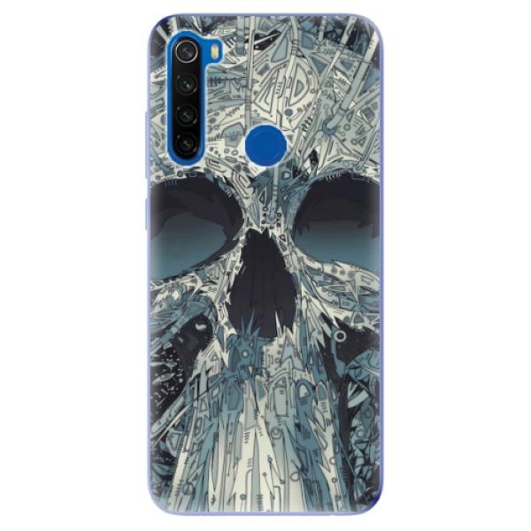 Odolné silikonové pouzdro iSaprio - Abstract Skull - Xiaomi Redmi Note 8T