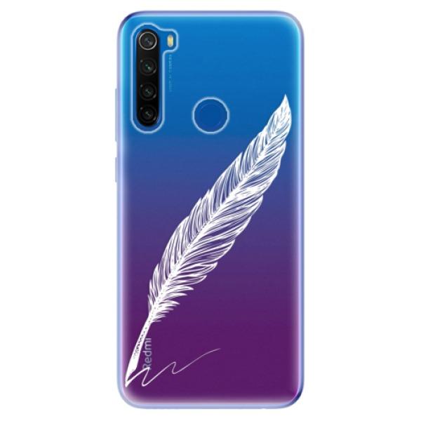 Odolné silikonové pouzdro iSaprio - Writing By Feather - white - Xiaomi Redmi Note 8T