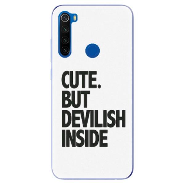 Odolné silikonové pouzdro iSaprio - Devilish inside - Xiaomi Redmi Note 8T