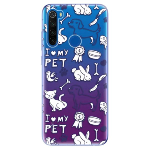Odolné silikonové pouzdro iSaprio - Love my pets - Xiaomi Redmi Note 8T
