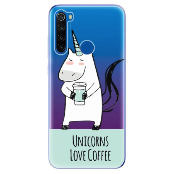 Odolné silikonové pouzdro iSaprio - Unicorns Love Coffee - Xiaomi Redmi Note 8T