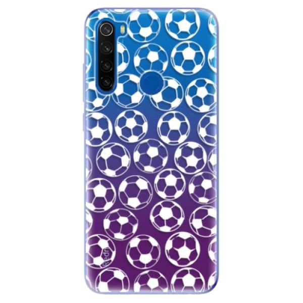 Odolné silikonové pouzdro iSaprio - Football pattern - white - Xiaomi Redmi Note 8T