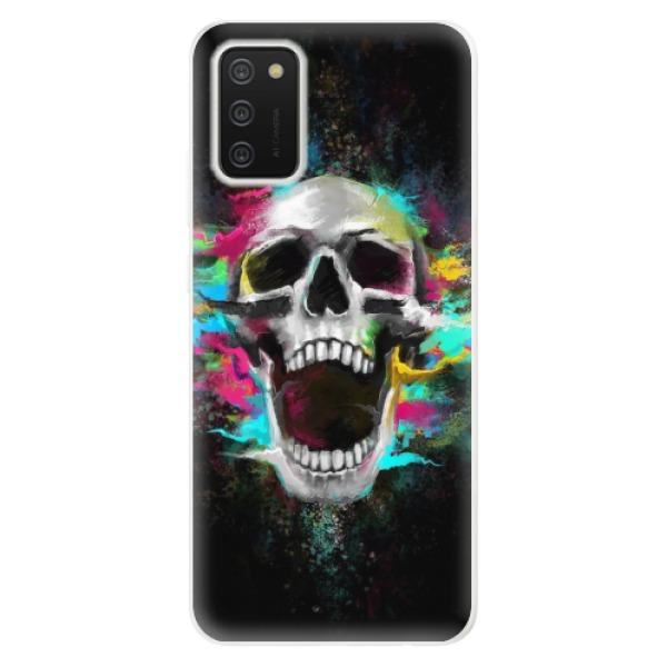 Odolné silikonové pouzdro iSaprio - Skull in Colors - Samsung Galaxy A02s