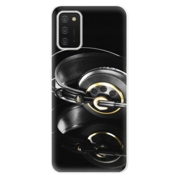 Odolné silikonové pouzdro iSaprio - Headphones 02 - Samsung Galaxy A02s