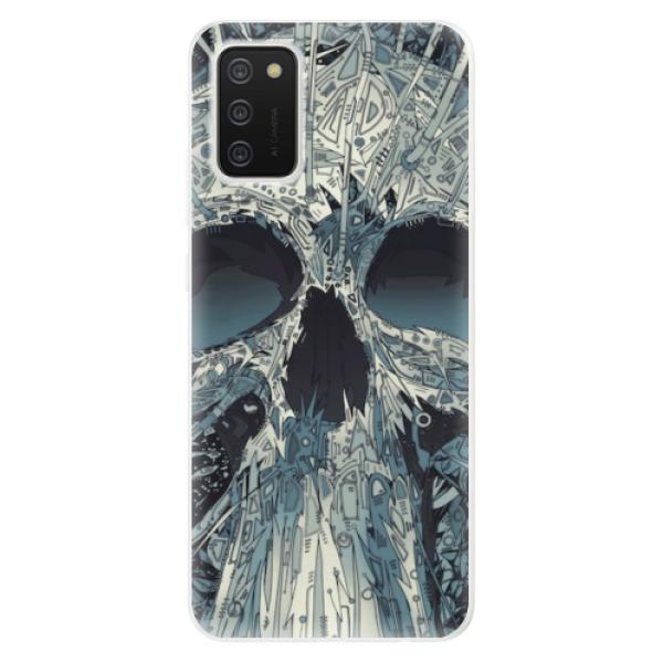 Odolné silikonové pouzdro iSaprio - Abstract Skull - Samsung Galaxy A02s