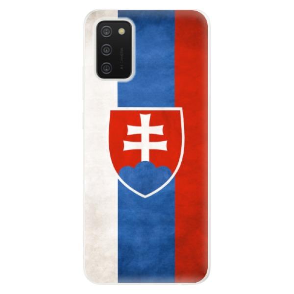 Odolné silikonové pouzdro iSaprio - Slovakia Flag - Samsung Galaxy A02s