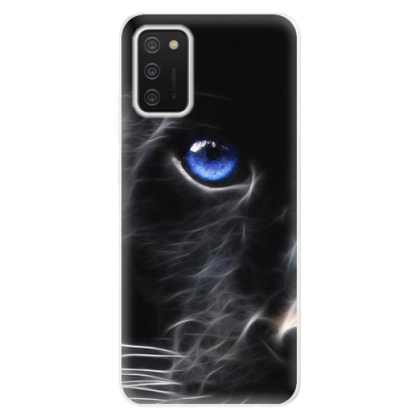 Odolné silikonové pouzdro iSaprio - Black Puma - Samsung Galaxy A02s
