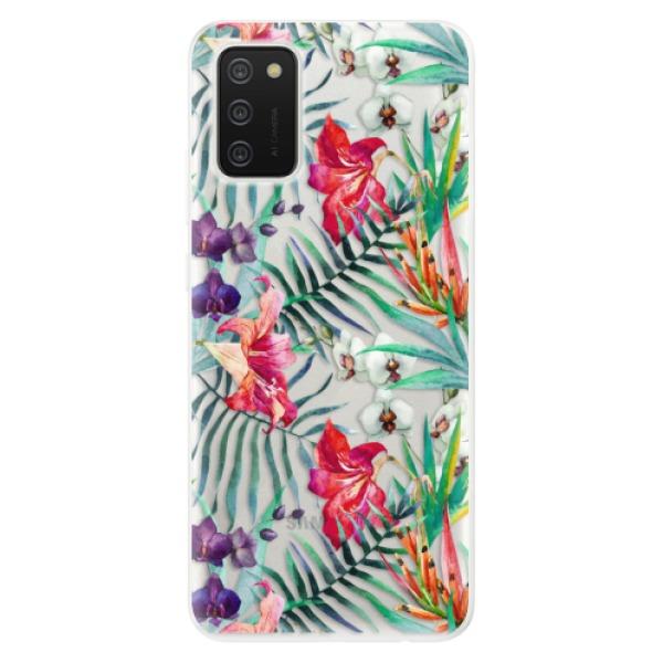 Odolné silikonové pouzdro iSaprio - Flower Pattern 03 - Samsung Galaxy A02s