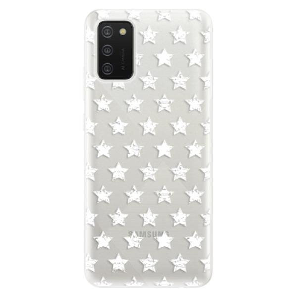 Odolné silikonové pouzdro iSaprio - Stars Pattern - white - Samsung Galaxy A02s