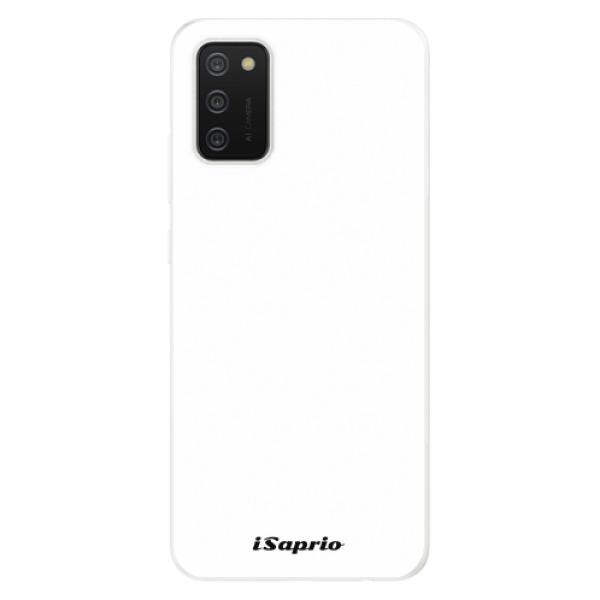 Odolné silikonové pouzdro iSaprio - 4Pure - bílý - Samsung Galaxy A02s