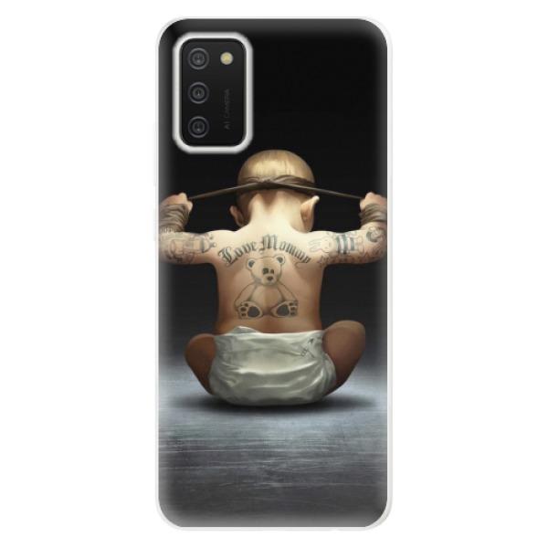 Odolné silikonové pouzdro iSaprio - Crazy Baby - Samsung Galaxy A02s