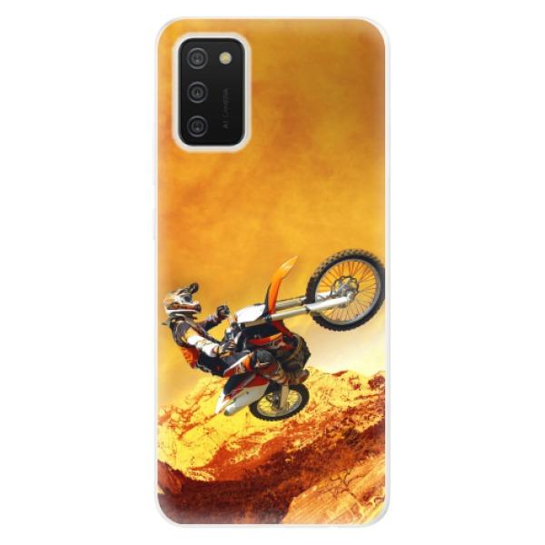 Odolné silikonové pouzdro iSaprio - Motocross - Samsung Galaxy A02s