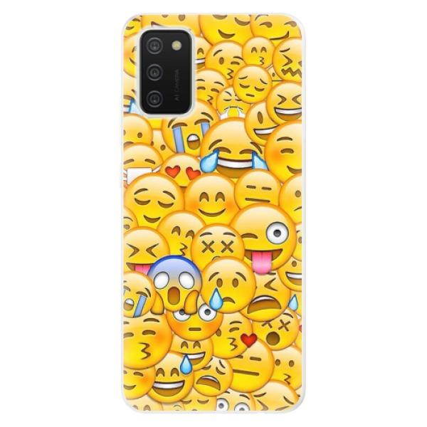 Odolné silikonové pouzdro iSaprio - Emoji - Samsung Galaxy A02s