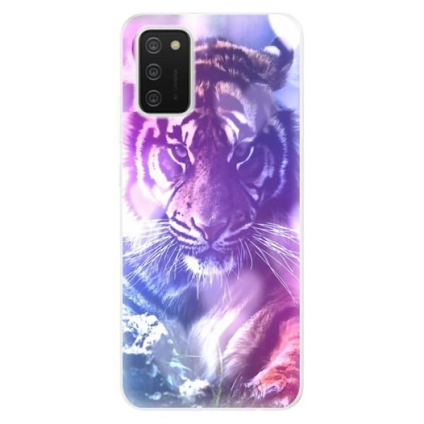 Odolné silikonové pouzdro iSaprio - Purple Tiger - Samsung Galaxy A02s