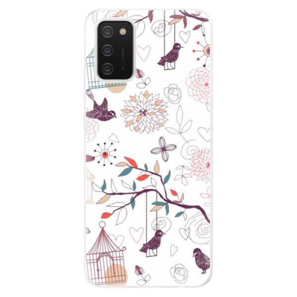 Odolné silikonové pouzdro iSaprio - Birds - Samsung Galaxy A02s