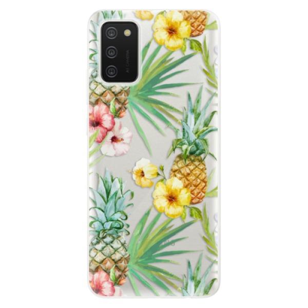 Odolné silikonové pouzdro iSaprio - Pineapple Pattern 02 - Samsung Galaxy A02s