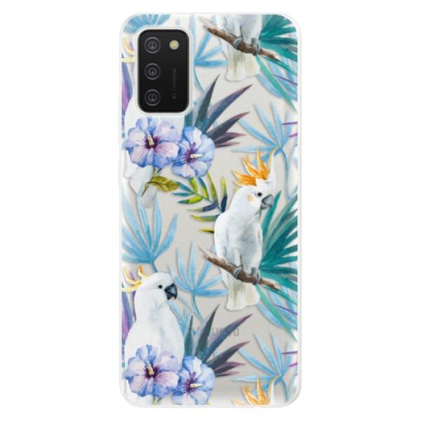 Odolné silikonové pouzdro iSaprio - Parrot Pattern 01 - Samsung Galaxy A02s