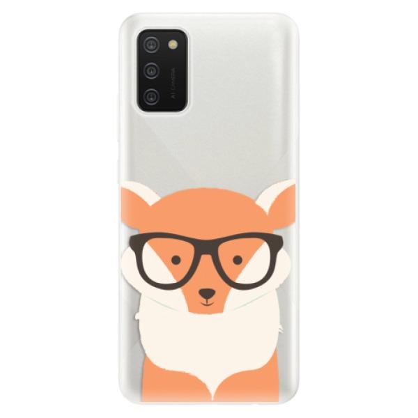 Odolné silikonové pouzdro iSaprio - Orange Fox - Samsung Galaxy A02s
