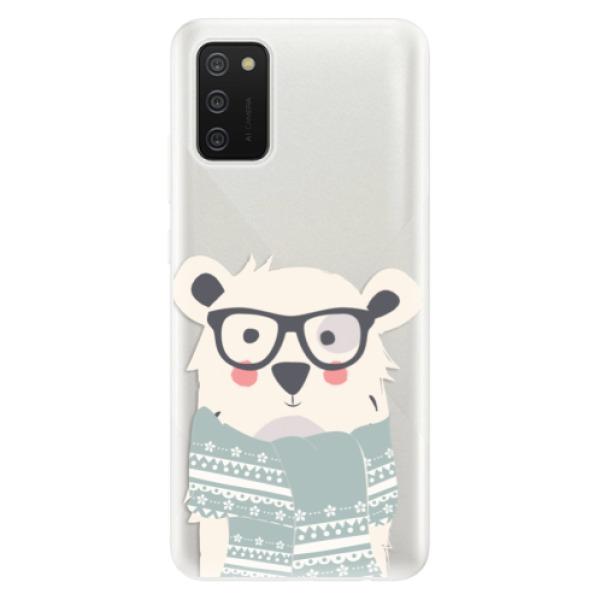 Odolné silikonové pouzdro iSaprio - Bear with Scarf - Samsung Galaxy A02s