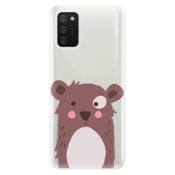 Odolné silikonové pouzdro iSaprio - Brown Bear - Samsung Galaxy A02s