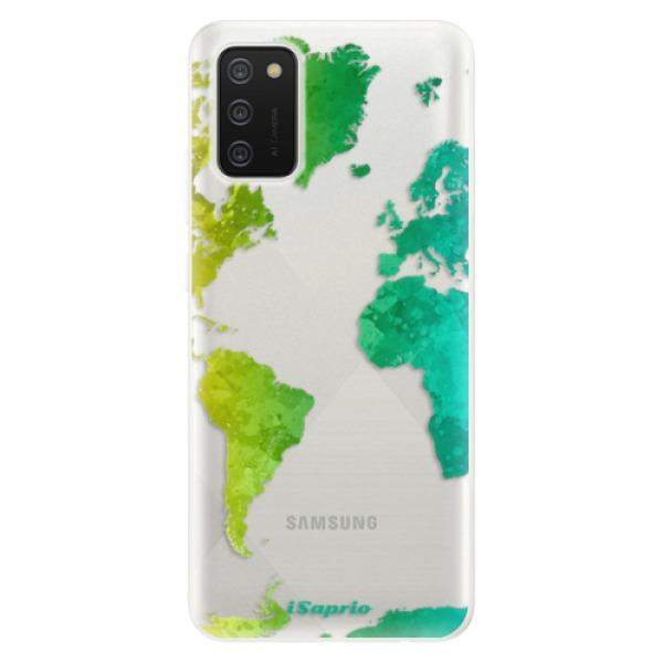 Odolné silikonové pouzdro iSaprio - Cold Map - Samsung Galaxy A02s