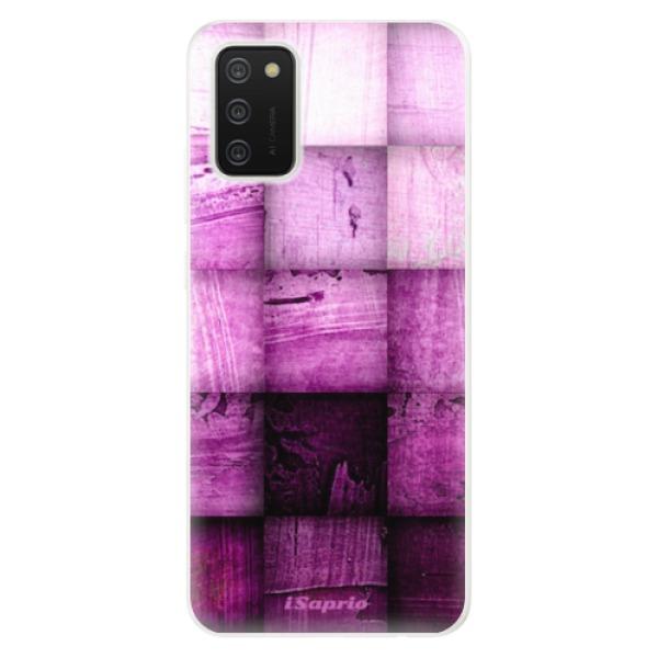 Odolné silikonové pouzdro iSaprio - Purple Squares - Samsung Galaxy A02s