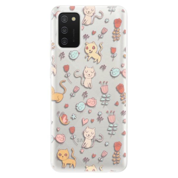 Odolné silikonové pouzdro iSaprio - Cat pattern 02 - Samsung Galaxy A02s