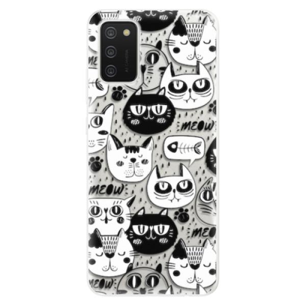 Odolné silikonové pouzdro iSaprio - Cat pattern 03 - Samsung Galaxy A02s