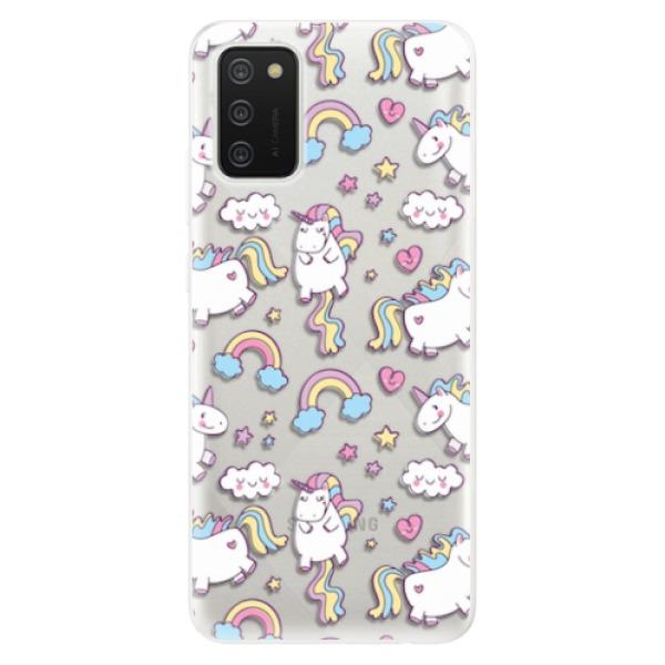 Odolné silikonové pouzdro iSaprio - Unicorn pattern 02 - Samsung Galaxy A02s